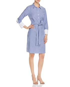 bb32f263 T Tahari - Belted Shirt Dress ...