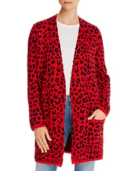 The East Order - Blake Open-Front Leopard Cardigan