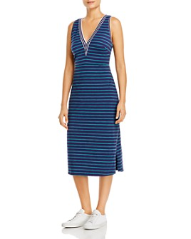 Tommy Bahama - Jovanna Striped Jersey Midi Dress