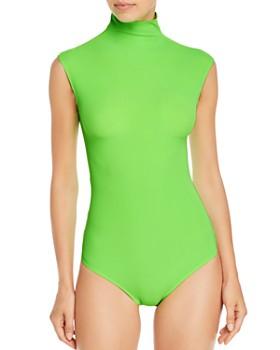 Alix - Denton High-Neck Bodysuit
