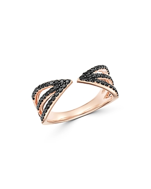 Bloomingdale's Black Diamond Multi-Row Band in 14K Rose Gold, 0.40 ct. t.w. - 100% Exclusive