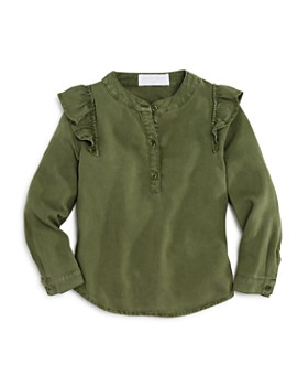 Bella Dahl - Girls' Ruffled Henley Top - Little Kid, Big Kid