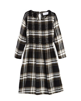 Bella Dahl - Girls' Smocked Plaid Dress - Little Kid, Big Kid