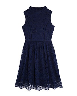 US Angels - Girls' Mock-Neck Lace Dress - Big Kid