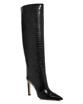 Jimmy Choo - Women's Mavis 100 Embossed High-Heel Tall Boots