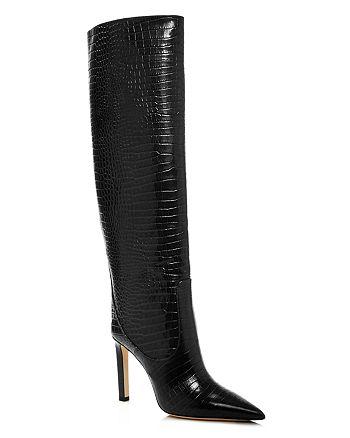 Jimmy Choo - Women's Mavis 100 Embossed High-Heel Tall Boots