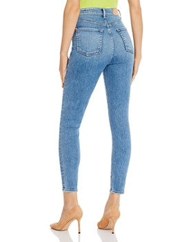 7 For All Mankind - Skinny Ankle Jeans in Luxe Vintage Beau Blue