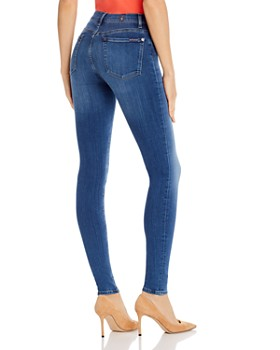 7 For All Mankind - Slim Illusion Skinny Jeans in Luxe Lovestory