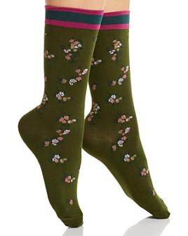 HUE - Spring Floral Crew Socks