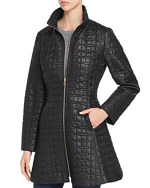 kate spade new york Fit-and-Flare Bow-Quilted Coat-Women