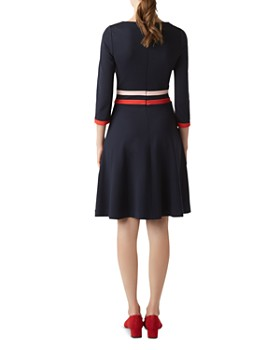 HOBBS LONDON - Seasalter Fit-and-Flare Dress