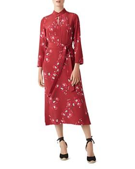 HOBBS LONDON - Margot Floral Silk Midi Dress