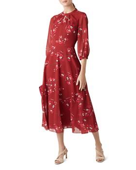 HOBBS LONDON - Samantha Floral Midi Dress