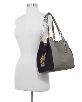 COACH - Dalton 31 Color-Block Exotic Shoulder Bag