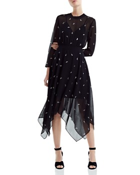Maje - Remi Paisley Embellished Midi Dress