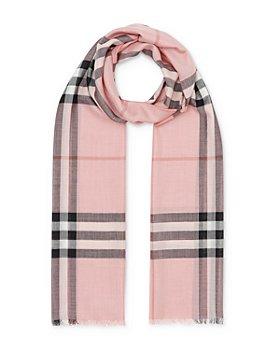 Burberry - Lightweight Giant Check Wool & Silk Scarf