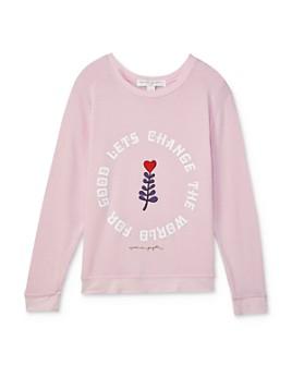 Spiritual Gangster - Girls' Lets Change The World Sweatshirt - Big Kid