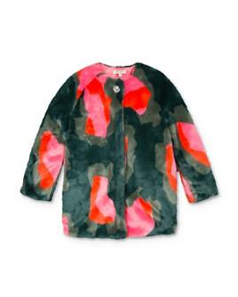 Kenzo - Girls' Color-Block Faux Fur Coat - Big Kid