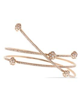 Pasquale Bruni - 18K Rose Gold Figlia dei Fiori White & Champagne Diamond Wrap Bracelet