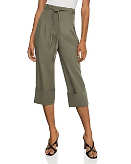 BCBGMAXAZRIA - Cuffed Tie-Front Cropped Pants