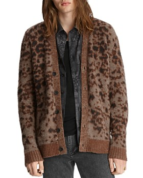 John Varvatos Collection - Patterned Easy Fit Cardigan