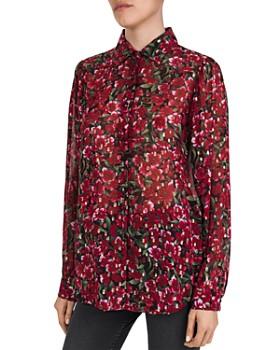 The Kooples - Floral Print & Metallic Dot Pattern Shirt