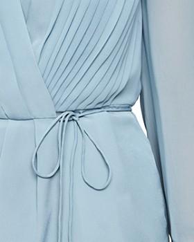 REISS - Nola Pleated Wrap Blouse