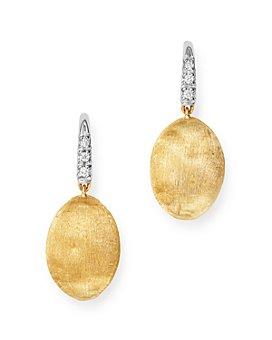 Marco Bicego - 18K Yellow Gold Siviglia Diamond Drop Earrings - 100% Exclusive