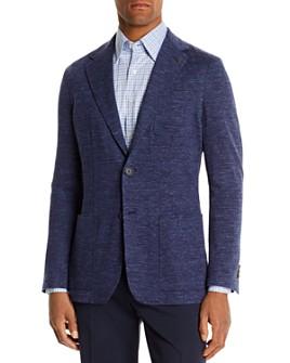 Canali - Mélange Chevron Slim Fit Jersey Jacket