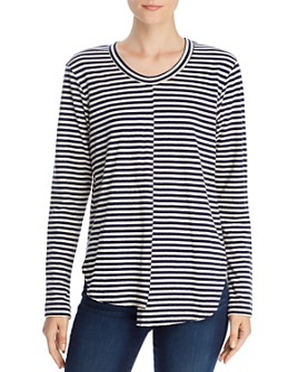 Wilt - Striped Long Sleeve Asymmetric Tee