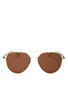 Bottega Veneta - Women's Brow Bar Aviator Sunglasses, 57mm
