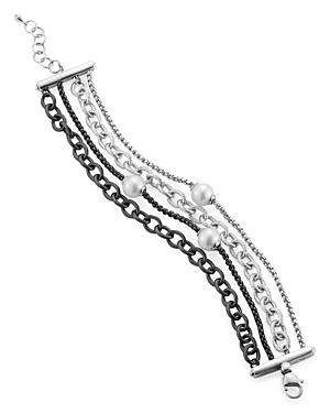 Alor Multi-Strand Simulated-Pearl Bracelet