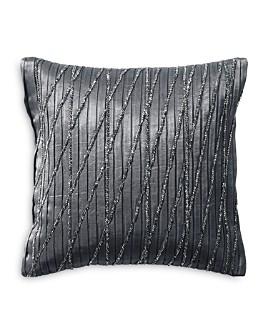"Donna Karan - Current Pleated & Beaded Decorative Pillow, 12"" x 12"""
