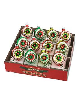 "Christopher Radko - Shiny Brite™ 1.75"" Reflector Rounds Ornaments, Box of 12"