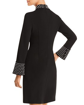 KARL LAGERFELD Paris - Faux Pearl-Studded Crepe Dress