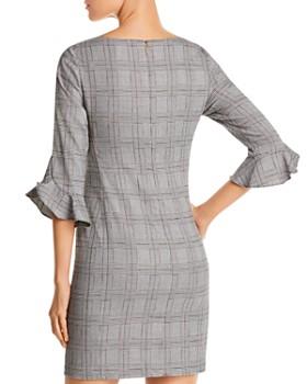 KARL LAGERFELD Paris - Houndstooth Plaid Flutter Cuff Dress