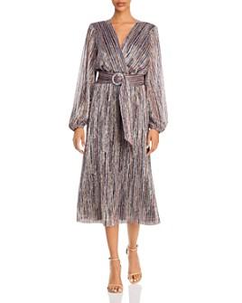 Rebecca Vallance - Bellagio Metallic Striped Dress