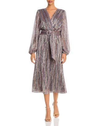 Bellagio Metallic Striped Dress by Rebecca Vallance
