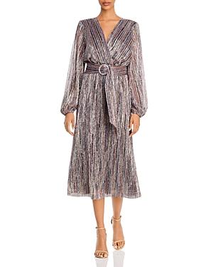 Rebecca Vallance Bellagio Metallic Striped Dress
