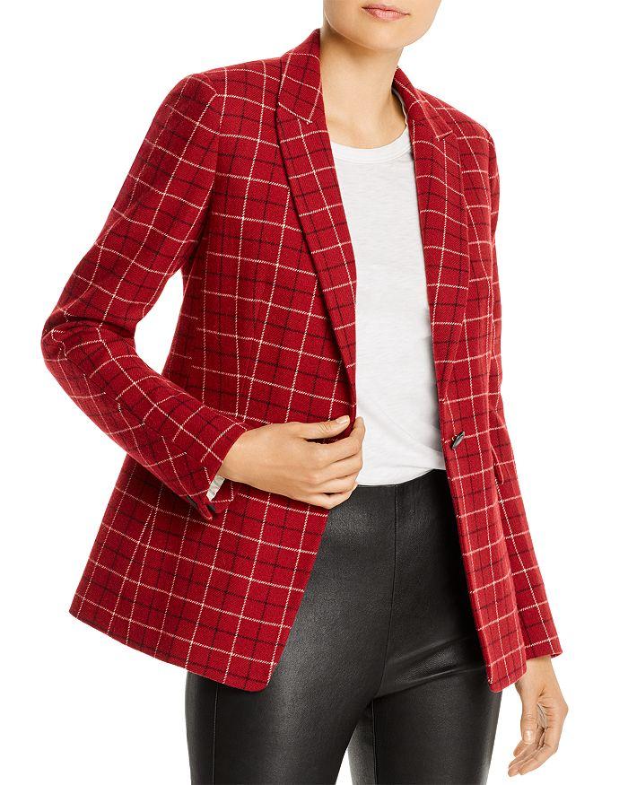 rag & bone - Hazel Wool-Blend Checkered Blazer