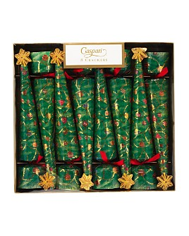 Caspari - Glittering Tree Crackers, Box of 8