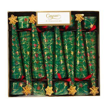 Caspari - Glittering Tree Crackers, Box of 8