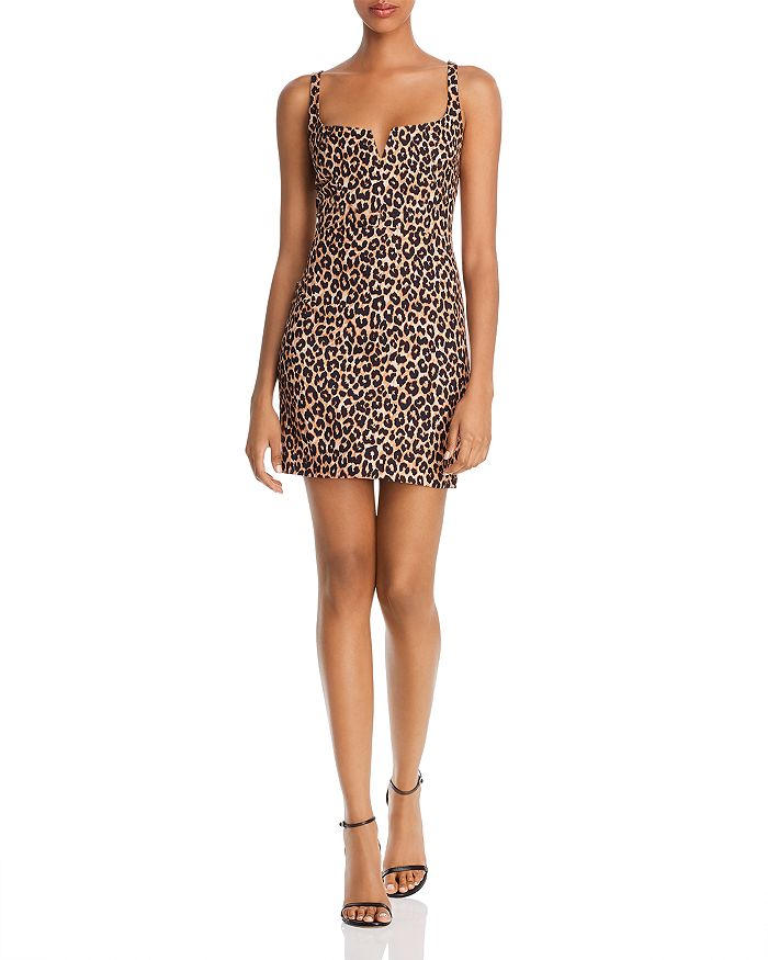 LIKELY - Constance Leopard-Print Mini Dress