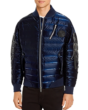 Karl Lagerfeld Paris Lustrous Down Bomber Jacket-Men