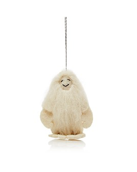 TO THE MARKET - Felt Yeti Ornament