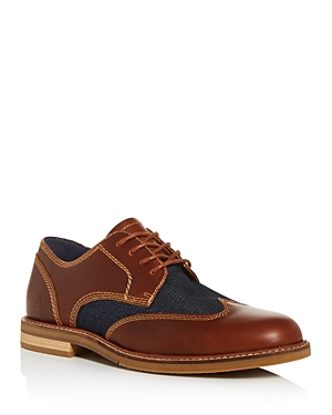 Original Penguin Men's Sheldon Leather & Denim Wingtip Oxfords