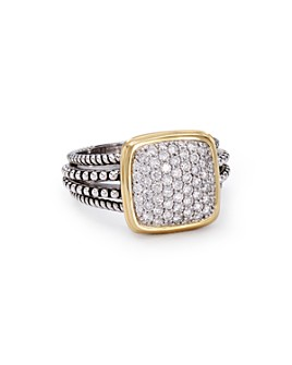 Bloomingdale's - Diamond Square Ring in Sterling Silver & 14K Gold-Plated Sterling Silver, 0.65 ct. t.w. - 100% Exclusive