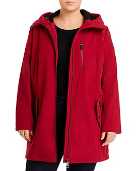 Calvin Klein Plus - Hooded Zip-Pocket Coat