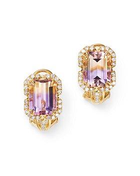 Bloomingdale's - Ametrine & Diamond Earrings in 14K Yellow Gold - 100% Exclusive