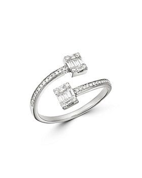 Bloomingdale's - Diamond Mosaic Bypass Ring in 14K White Gold, 0.35 ct. t.w. - 100% Exclusive
